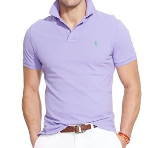 Polo by Ralph Lauren Custom Fit Lavender Polo